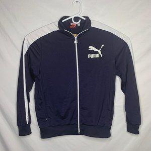Puma Blue and White Zipper Jacket Size Large